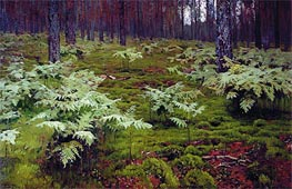 Fern in Wood, 1895 by Isaac Levitan | Painting Reproduction
