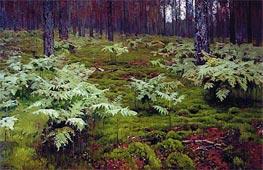 Fern in Wood | Isaac Levitan | Gemälde Reproduktion