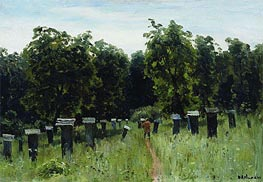 Apiary, a.1880 by Isaac Levitan | Painting Reproduction