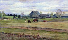 Cloudy Day | Isaac Levitan | Gemälde Reproduktion