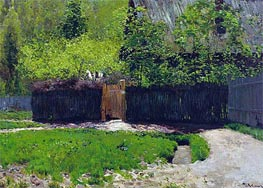 The First Greens. May | Isaac Levitan | Gemälde Reproduktion