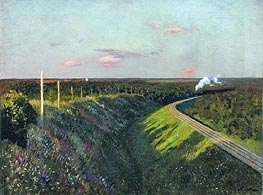 Train in Way | Isaac Levitan | Gemälde Reproduktion