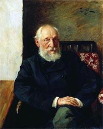 Portrait of Panafidin | Isaac Levitan | Gemälde Reproduktion