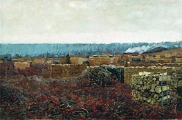Wood-Cutting , 1898 by Isaac Levitan | Painting Reproduction