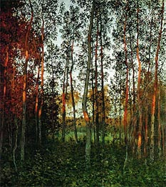 The Last Sunbeams. An Aspen Wood, 1897 by Isaac Levitan | Painting Reproduction