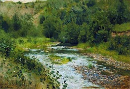 Small River, 1888 by Isaac Levitan | Painting Reproduction