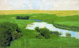 Small River Istra, c.1885/86 by Isaac Levitan | Painting Reproduction