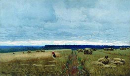Gloomy Day. Harvest, c.1880/90 by Isaac Levitan | Painting Reproduction