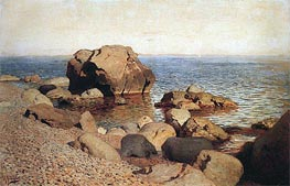 At Seacoast. Crimea, 1886 by Isaac Levitan | Painting Reproduction