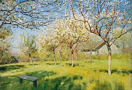 Blossoming Apple-Trees, 1896 by Isaac Levitan | Painting Reproduction