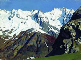 Mont Blanc Mountains, 1897 by Isaac Levitan | Painting Reproduction