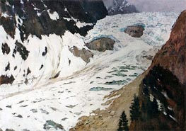 Alps. Snow, 1897 by Isaac Levitan | Painting Reproduction