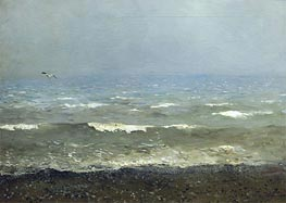 Coast of Mediterranean Sea, 1890 by Isaac Levitan | Painting Reproduction