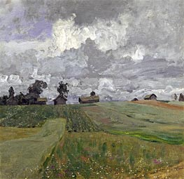 Stormy Day, 1897 by Isaac Levitan | Painting Reproduction