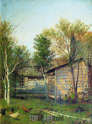 Sunny Day. Spring, 1877 | Isaac Levitan | Gemälde Reproduktion