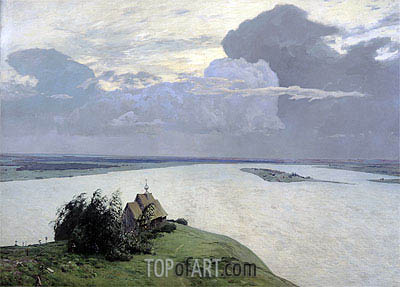 Above the Eternal Peace, 1894 | Isaac Levitan| Painting Reproduction