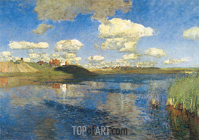 The Lake. Russia, 1895 | Isaac Levitan | Painting Reproduction