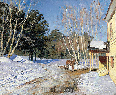March, 1895 | Isaac Levitan | Painting Reproduction