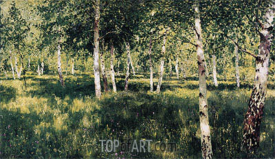 Birch Grove, 1889 | Isaac Levitan| Painting Reproduction