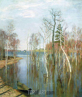 Spring, High Water, 1897 | Isaac Levitan| Painting Reproduction