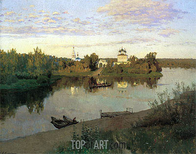 The Evening Bell Tolls, 1892 | Isaac Levitan| Gemälde Reproduktion
