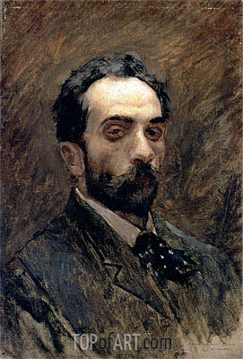 Self Portrait, c.1880/90 | Isaac Levitan | Painting Reproduction