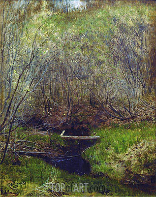 Spring in the Forest, 1882 | Isaac Levitan| Painting Reproduction