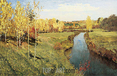Golden Autumn, 1895 | Isaac Levitan| Painting Reproduction