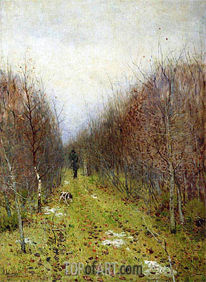 Isaac Levitan | Autumn. Hunter, 1880