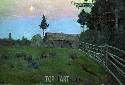 Dusk, 1900 | Isaac Levitan| Painting Reproduction