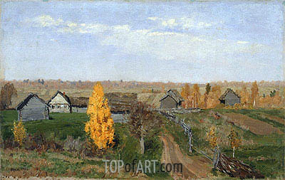 Golden Autumn. Slobodka, 1889 | Isaac Levitan | Painting Reproduction