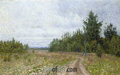 The Track, 1890 | Isaac Levitan | Gemälde Reproduktion