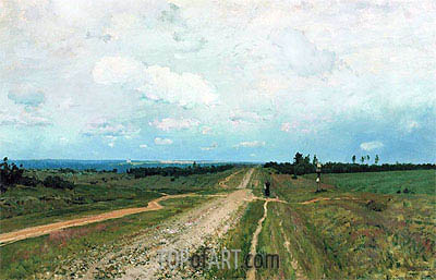 Vladimirka, 1892 | Isaac Levitan | Painting Reproduction