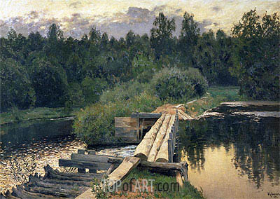 At the Shallow, 1892 | Isaac Levitan| Painting Reproduction