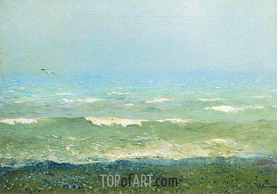 Coast of Mediterranean Sea, 1890 | Isaac Levitan | Painting Reproduction