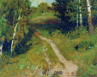 Birch Grove,  | Isaac Levitan | Painting Reproduction