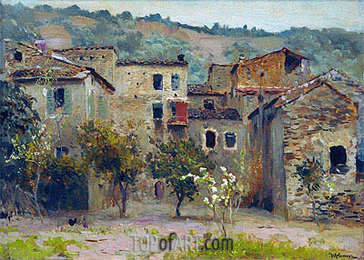 Near Bordighera. North Italy, 1890 | Isaac Levitan | Gemälde Reproduktion