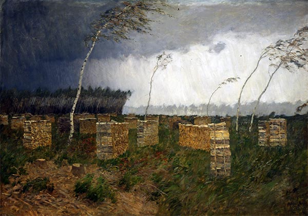 Isaac Levitan | Sturm. Regen, 1899