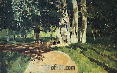 In the Park, 1895 | Isaac Levitan| Painting Reproduction