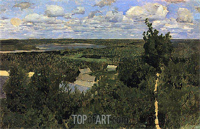 Vasilsursk, 1887 | Isaac Levitan| Painting Reproduction