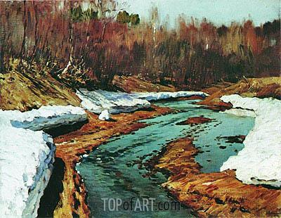 Isaac Levitan | Spring. Last Snow, 1895