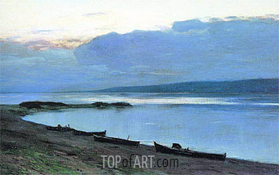 Evening on Volga, 1888 | Isaac Levitan | Painting Reproduction