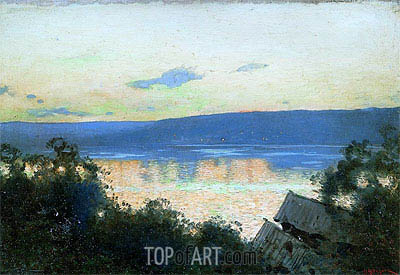 Isaac Levitan | Evening on Volga, 1888