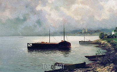 Volga, 1889 | Isaac Levitan | Painting Reproduction