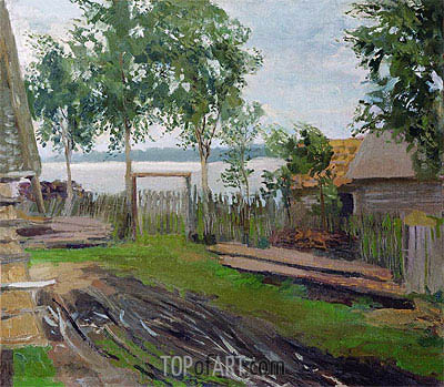 Court Yard,  | Isaac Levitan| Painting Reproduction