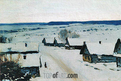 Village. Winter, c.1877/78 | Isaac Levitan | Painting Reproduction