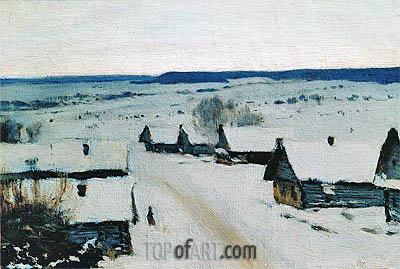 Isaac Levitan | Village. Winter, c.1877/78
