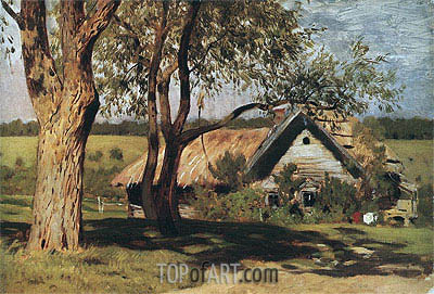 Small House with Willows, c.1880/85 | Isaac Levitan | Gemälde Reproduktion