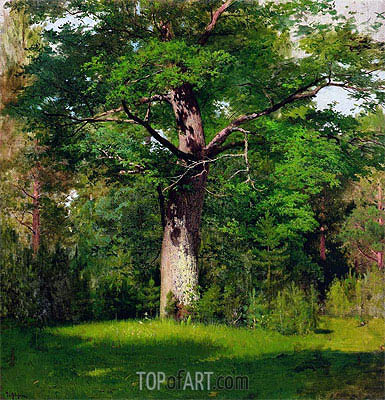 Oak, 1880 | Isaac Levitan| Painting Reproduction