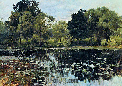 Overgrowned Pond, 1887 | Isaac Levitan| Painting Reproduction